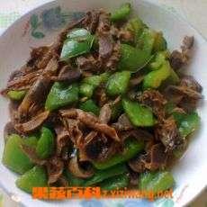 青椒炒鸡胗原料和做法步骤